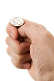 Flipping Coin Royalty Free Stock Photo
