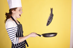 Flipping fish. Royalty Free Stock Photo