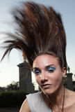 Flipping Hair. Young woman flipping her hair Stock Images