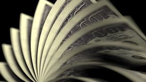 Flipping hundred dollar bills. 3D rendering Stock Photography