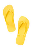 Flips Flops Shot Over Head Vertical Royalty Free Stock Photo