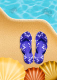 Flips-flops in summer Royalty Free Stock Photos