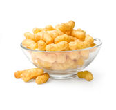 Flips snacks. On the plate. With clipping path Royalty Free Stock Images