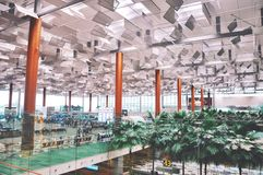 Flipside. At Singapore Airport Royalty Free Stock Photo