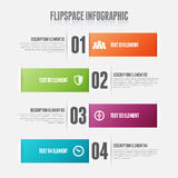 Flipspace Infographic. Vector illustration of flip space infographic design element Royalty Free Stock Photography