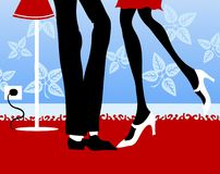 Flirt illustrazione di stock