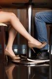 Flirt Fotografie Stock