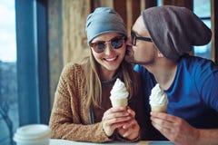 flirt Photographie stock libre de droits