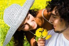 Flirt photographie stock