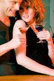 Flirt in a bar Stock Photography