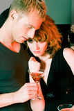 Flirt in a bar Stock Images