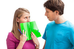 Flirt in highschool Stock Images