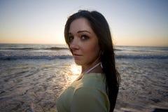 Flirt sur la plage Photographie stock libre de droits
