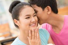 Flirt tendre Photos libres de droits