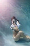Flirt Underwater Fotografia Stock