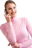 Flirtando sul telefono Immagini Stock