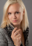Flirtatious Blonde Royalty Free Stock Image