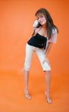 Flirtatious Brunette Stock Image