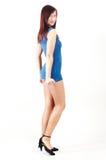 Flirtatious girl - whole profile Royalty Free Stock Images