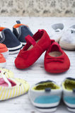 Flirtatious shoes Royalty Free Stock Images