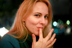 Flirtatious Woman Royalty Free Stock Image