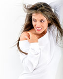 Flirtatious woman posing Stock Photography