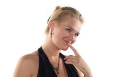 Flirtend meisje Royalty-vrije Stock Afbeeldingen
