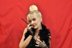 Flirtende vampier Stock Foto