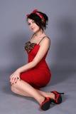 Flirtende vrouw Stock Afbeeldingen