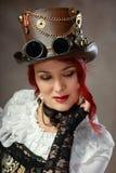 Flirtig ung kvinna arkivfoto