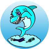 flirting акула Стоковые Фотографии RF