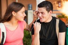 Flirting в средней школе Стоковая Фотография RF