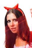 flirting женщина рожочков стоковые фотографии rf