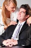 flirting офис Стоковые Изображения RF