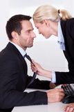 flirting офис Стоковые Фото