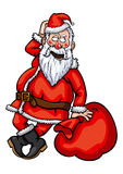 Flirting Санта Клауса Стоковая Фотография RF