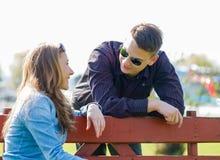 Flirting для выбирает вверх Стоковые Фото