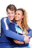 Flirting. Young beautiful couples flirting. Two happy people Stock Photo