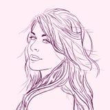 Flirting beautiful young woman Royalty Free Stock Image