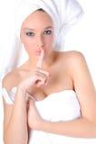 Flirting beauty Royalty Free Stock Photography