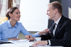 Flirting with colleague Stock Photography