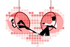 Flirting couple Stock Image