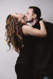 Flirting couple Stock Photos