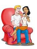 Flirting couple Royalty Free Stock Images
