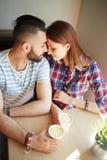 Flirting dates Stock Photography