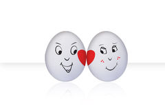 Flirting Egg on white Stock Image