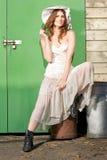 Flirting Farm Girl Stock Photo