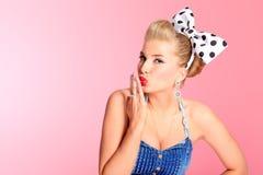 Flirting girl Royalty Free Stock Photography