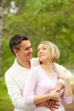 Flirting glance Stock Images