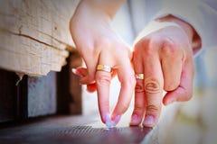Flirting hands Stock Photos